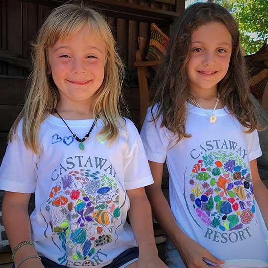 DIY t-shirts from Castaway resort