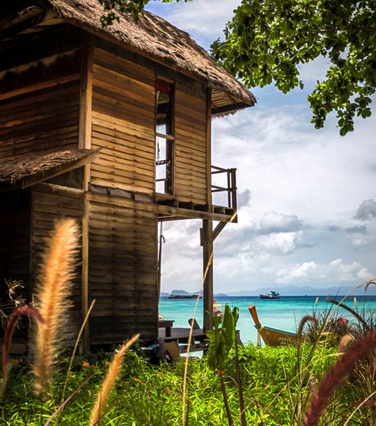 Beachfront breezy bungalow view