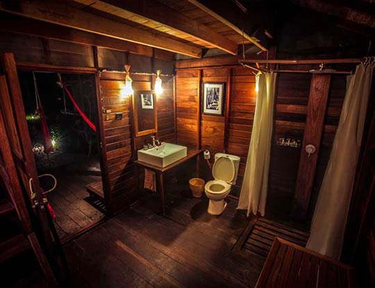 Castaway Resort Koh Lipe, big breezy bungalows bathroom