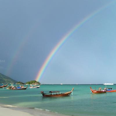 Rainbow at Castaway Beach Resort