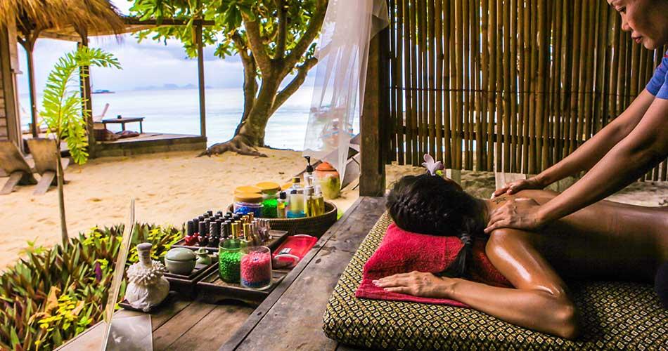 Koh lipe spa massage: massage at castaway resort on koh lipe on sunrise beach